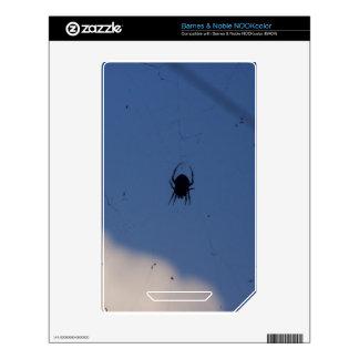 Spider Waiting on a Meal NOOK Color Skins