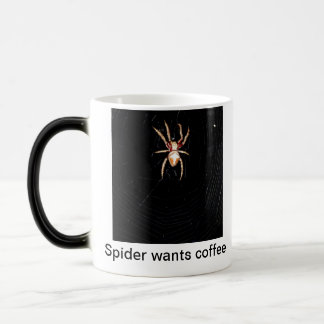 Spider wants coffee mug