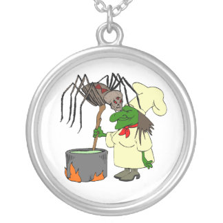 Spider watching the witch chef custom jewelry
