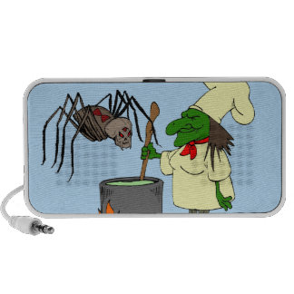Spider watching the witch chef mini speakers
