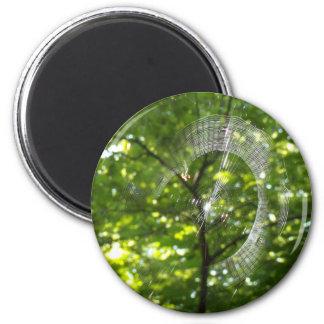 Spider web 2 inch round magnet