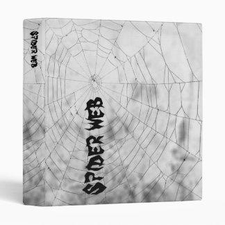 Spider web 3 ring binder