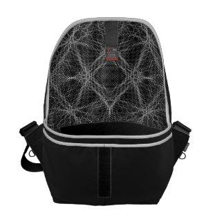 Spider Web Abstract Messenger Bag