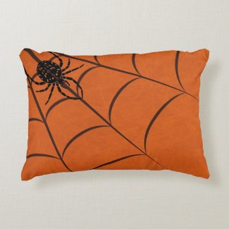 Spider & Web Accent Pillow