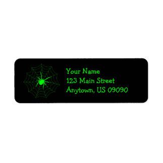 Spider Web Address Labels (Green)