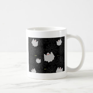 Spider web and ghosts pattern coffee mug