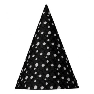 Spider web and ghosts pattern party hat