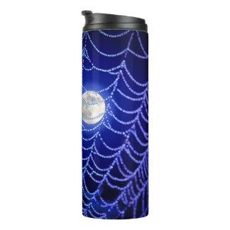 Spider Web and Moon Thermal Tumbler