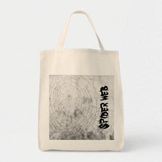 Spider web canvas bag