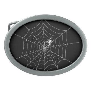 Spider Web Oval Belt Buckles