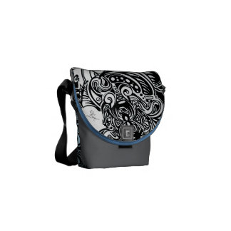 Spider Web blue and grey Shoulder Bag