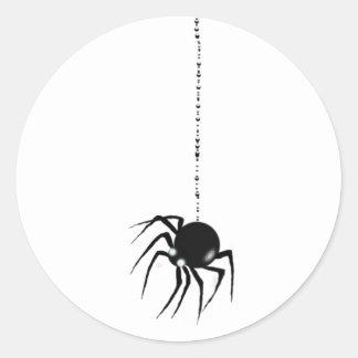 SPIDER & WEB by SHARON SHARPE Classic Round Sticker