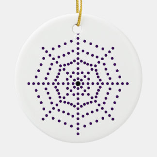 Spider Web Ceramic Ornament