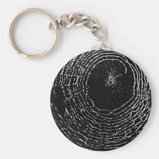 Spider Web Design Basic Round Button Keychain