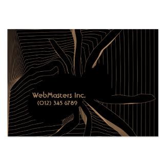 spider web design IT engineer business card