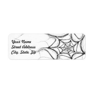 Spider Web Fract Background Return Address Sticker Label