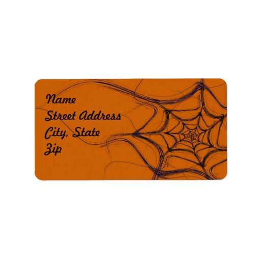 Spider Web Fractal Background Address Sticker Labels