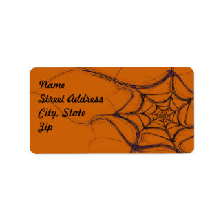 Spider Web Fractal Background Address Sticker Label