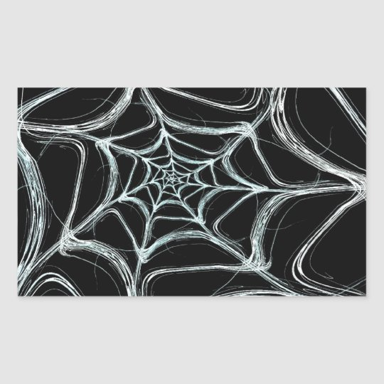 Spider Web Fractal Background Rectangle Sticker