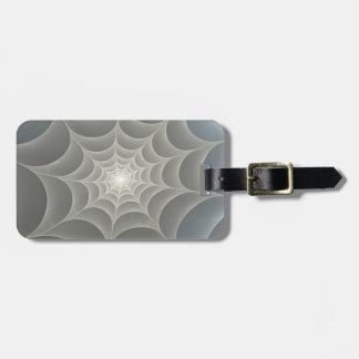Spider Web Fractal Bag Tag