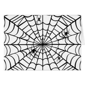 Spider Web Greeting Cards