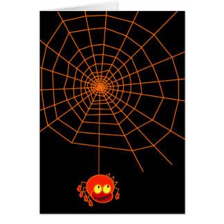 Spider Web Halloween Card