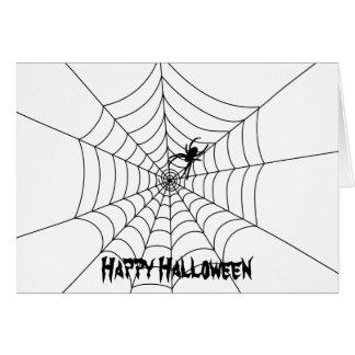 Spider Web Halloween Greeting Card- Blank