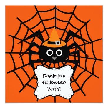 halloweengifts Spider Web Halloween Party Invitation