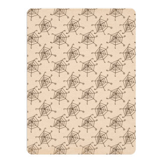 Spider Web Halloween Pattern 6.5x8.75 Paper Invitation Card