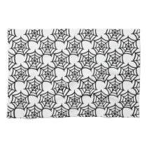 spider web halloween pattern hand towel