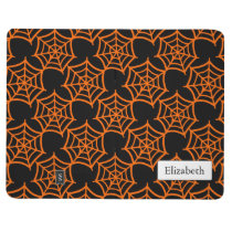 spider web halloween pattern journal
