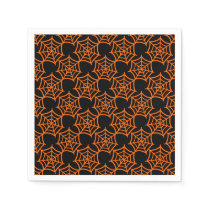 spider web halloween pattern napkin