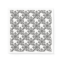 spider web halloween pattern paper napkin