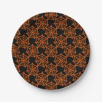spider web halloween pattern paper plate