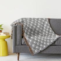 spider web halloween pattern throw blanket