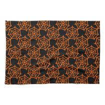 spider web halloween pattern towels