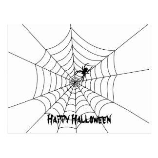 Spider Web Halloween Postcard