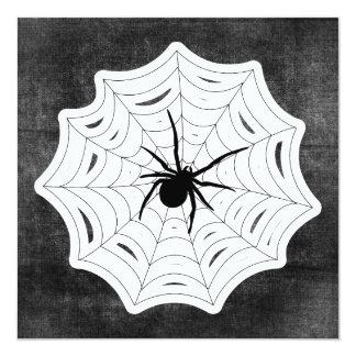 Spider Web Halloween Spooky Creepy Bug Design Card