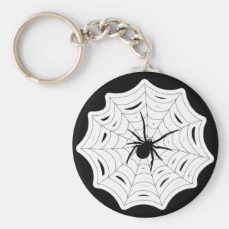 Spider Web Halloween Spooky Creepy Bug Design Keychain
