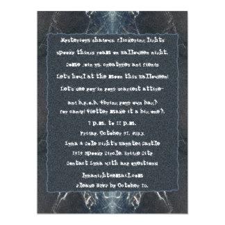 Spider Web Halloween Spooky Goth Gothic 6.5x8.75 Paper Invitation Card