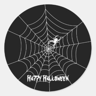 Spider Web Halloween Sticker
