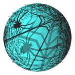 Spider Web Halloween Sticker Blue