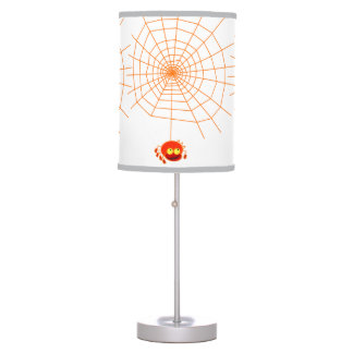 Spider Web Halloween Table Lamp