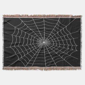 Spider Web Halloween Throw