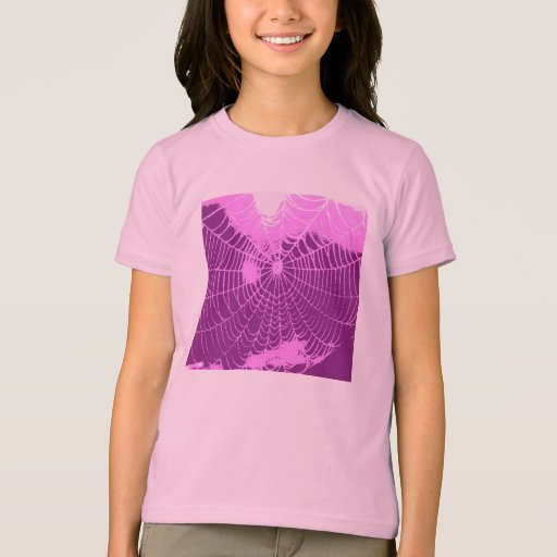 Spider Web in Pink and Purple T-Shirt