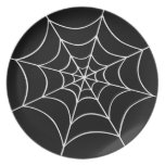 Spider Web Melamine Plate