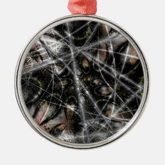 Spider Web Metal Ornament