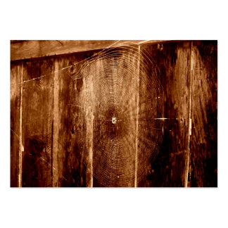 Spider Web On Fence Large Business Cards (Pack Of 100)