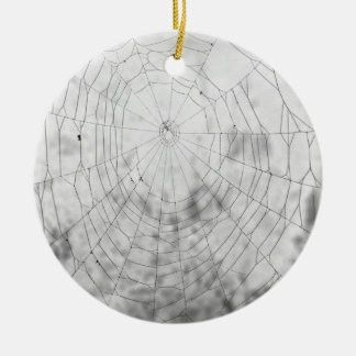 Spider web Double-Sided ceramic round christmas ornament