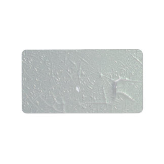 Spider web pattern of cracked paint texture personalized address labels